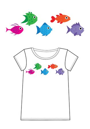 fish print for fashion industry Standard-Bild