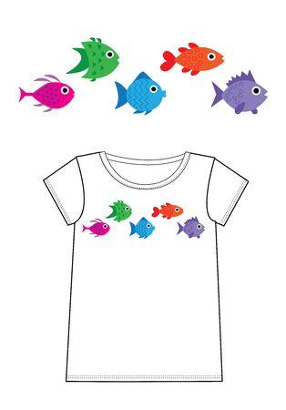 vis print voor de mode-industrie