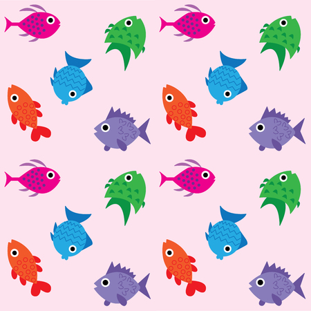 interior decoration: seamless fish pattern background
