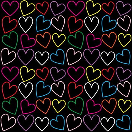 Naadloze hart patroon achtergrond Stockfoto
