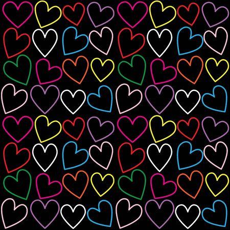 romance: seamless heart pattern background
