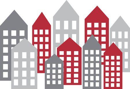 Bureaublad van de skyline van de skyline van de stad