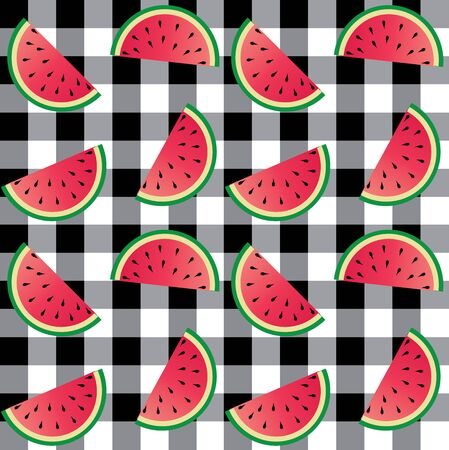 checked: seamless melon pattern checked background