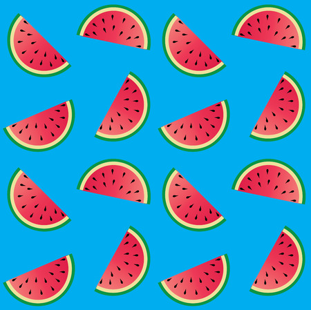 seamless melon pattern blue background