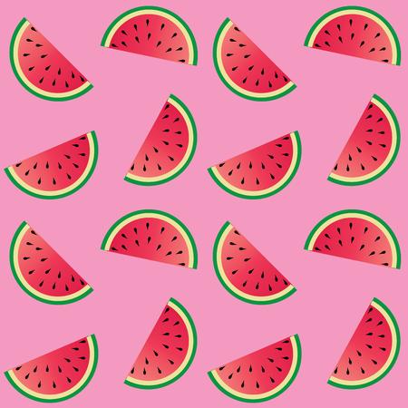 Naadloze meloen patroon roze achtergrond Stockfoto