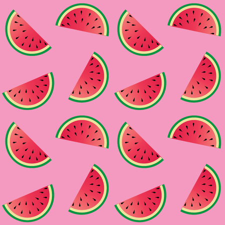 seamless melon pattern pink background
