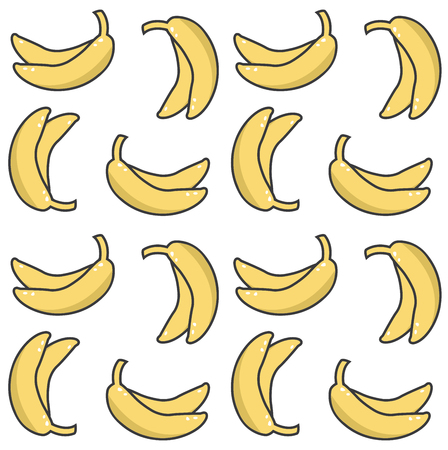 banana print pattern background Standard-Bild