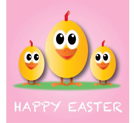 happy easter happy holiday greeting card