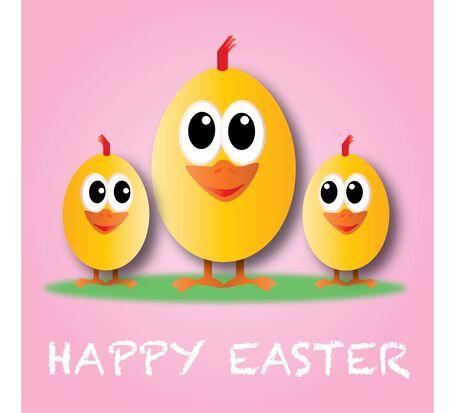 vrolijk Pasen prettige vakantie wenskaart Stockfoto
