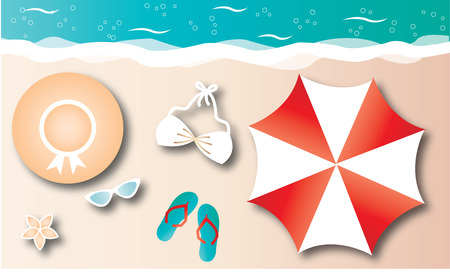 summer beach vacation header or banner