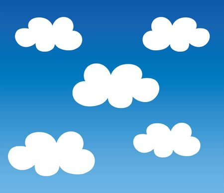 Blue sky and white clouds Illustration