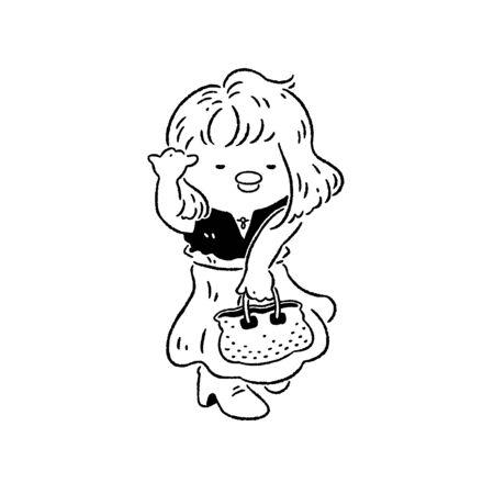 Elegant woman flipping her hair