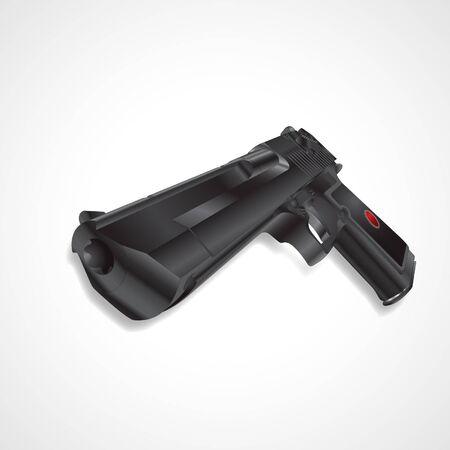 Black pistol handgun