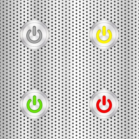Electric start button Vector
