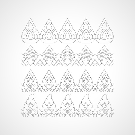 siam: Set thailand pattern design