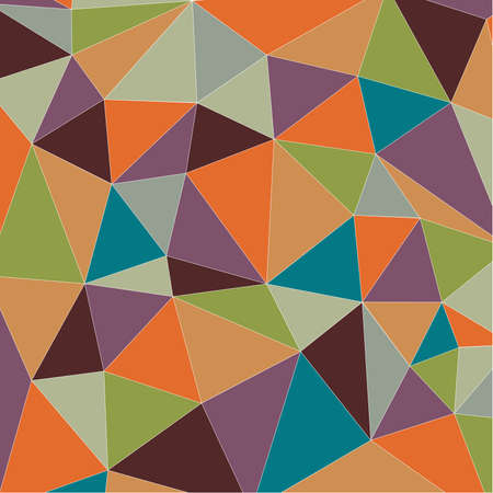 Colorful vintage triangle background