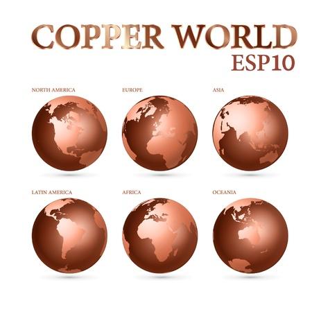 Copper world symbol