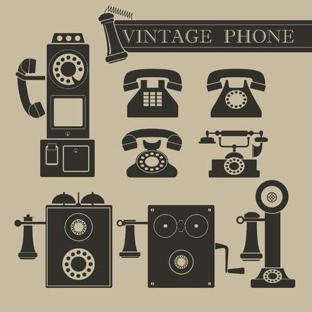 Vintage phone Ilustrace