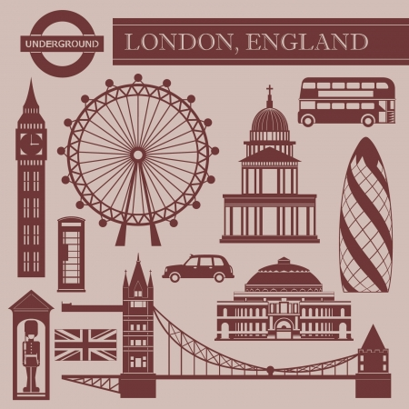 Landmark of London Illustration