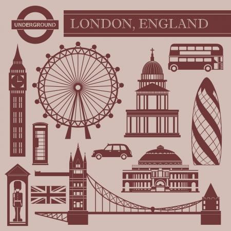 ondon: Landmark of London Illustration