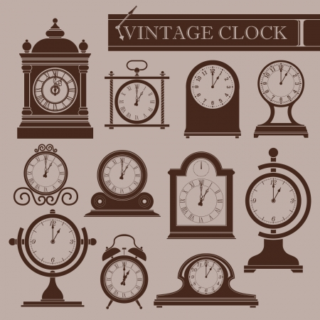 reloj antiguo: Reloj vintage I Vectores