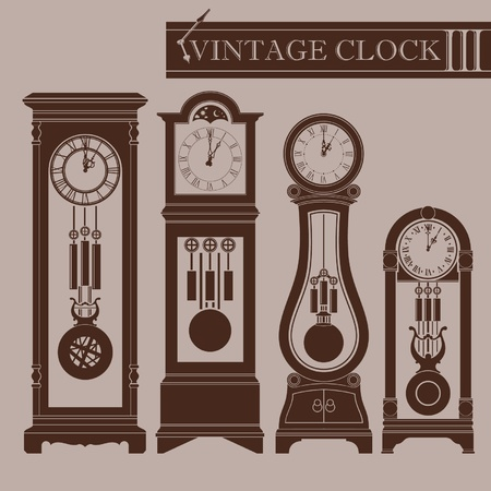 time machine: Vintage clock III Illustration