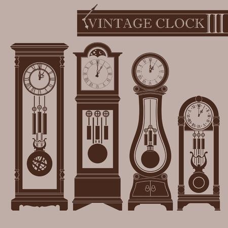 Vintage clock III Ilustrace