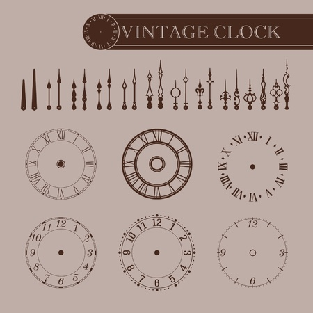 time machine: Vintage partie de l'horloge
