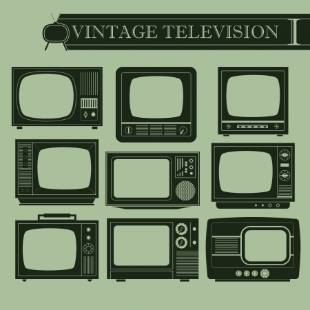 flat screen tv: Vintage television I