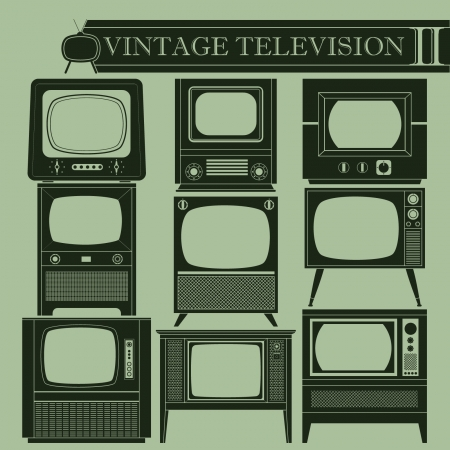 Vintage television II Stock Vector - 21695491