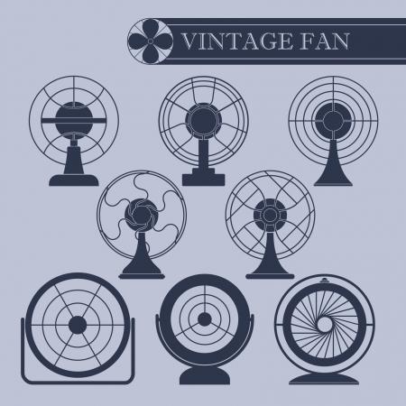 Vintage fan  Ilustrace