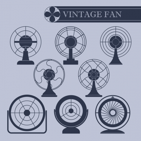 ventilator: Vintage fan  Illustration