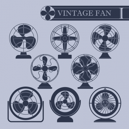 Vintage fan  Stock Vector - 22024605
