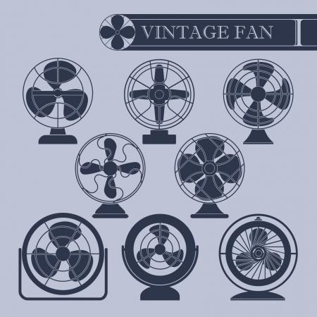 Vintage fan Stock Vector - 22024605