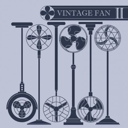 black fan: Vintage fan II