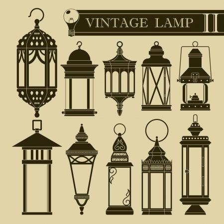 ヴィンテージ ランプ II  イラスト・ベクター素材
