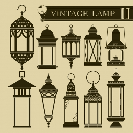 lamp power: Vintage lamp II Illustration