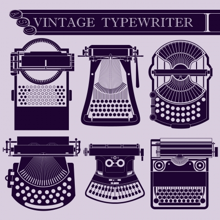 Vintage typewriter I Stock Vector - 23317404