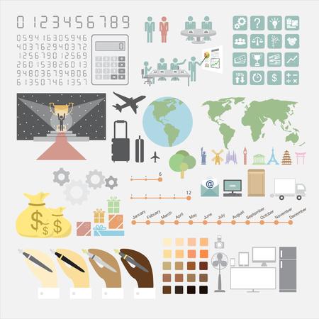 Infographics convention plan Ilustrace