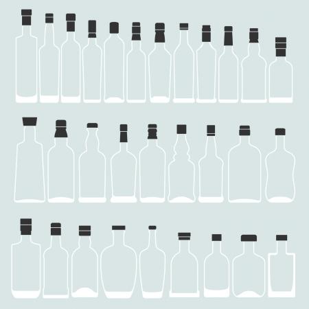 Empty bottle shape  Illustration