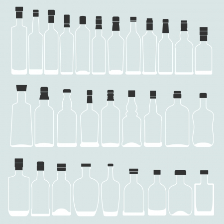alcoholism: Empty bottle shape  Illustration