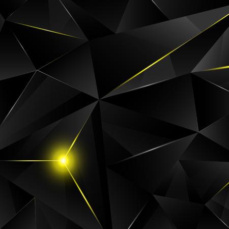 shinny: Black crystal with yellow shine