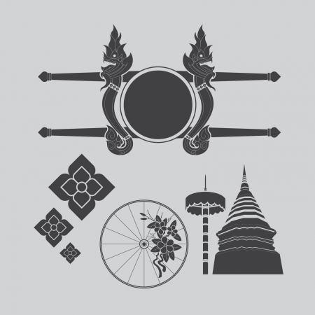 Thailand northern art design Illustration