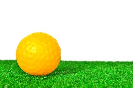 Yellow golf ball photo