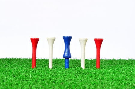 Red, white and blue Golf Tee  photo