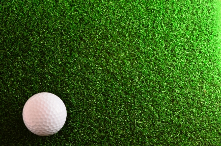 golf ball: Golf On green grass