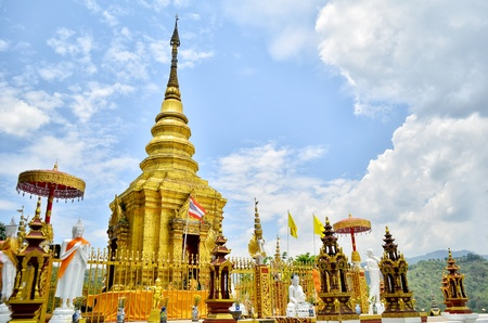 Temple in Chiang Rai, Thailand photo