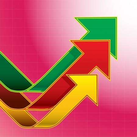 superacion personal: Las flechas gr�fico Fondo rosado Vectores