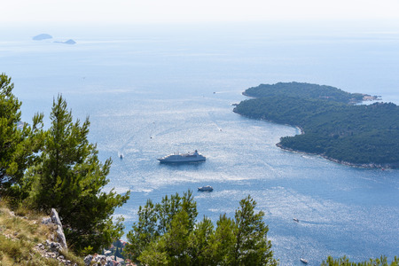 sight seeing: Ferry in adriatic sea