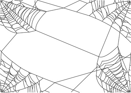 Vector illustration of spider net in corners.